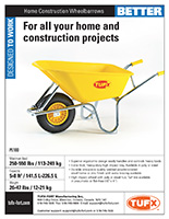 Home Construction Wheelbarrows sell sheet