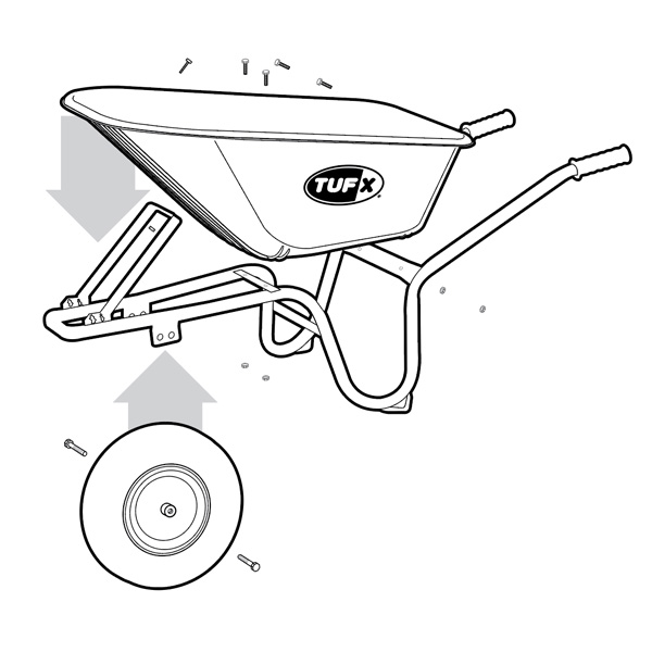 Wheelbarrow assembly image