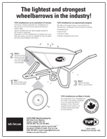 Wheelbarrow assembly instructions