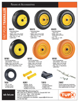 TUFX wheelbarrow wheels and accessories sellsheet download