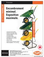 TUFX wheelbarrow merchandizer sellsheet download