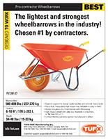 Contractor Wheelbarrows sell sheet