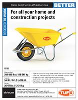 Home Construction Wheelbarrows sell sheet