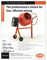 Tufx cement mixer sell sheet