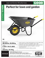 Lawn and Garden Wheelbarrows sell sheet