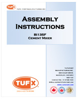 Tufx cement mixer assembly instructions